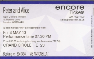 PeterAndAlice ticket