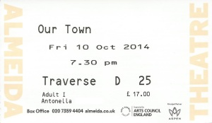 Our Town ticket