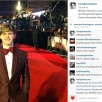 Tom Prior - Hugo on the red carpet - from his Instagram account