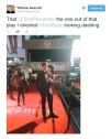 Tom Prior on the red carpet - tweet by director/writer Thomas Hescott