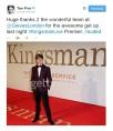 Tom Prior on the red carpet - tweet by him