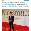 Tom Prior on the red carpet - tweet by him