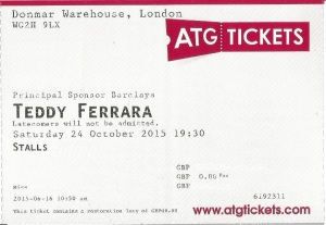 Teddy Ferrara ticket