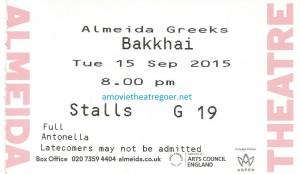 Bakkhai ticket