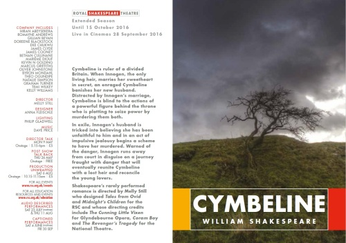 Cymbeline from the brochure