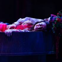Ayesha Dharker as Titania and Chris Clarke as Bottom - photo Topher McGrillis