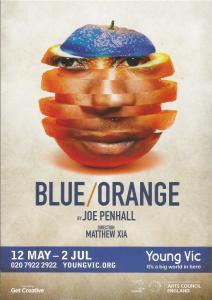 blue orange poster