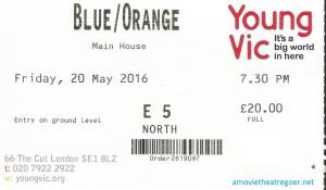 Blue Orange ticket 20 May