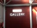 The gallery in the mezzanine