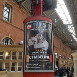 Cymbeline's poster, Marylebone station, London