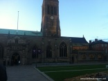Leicester cathedral at sunset