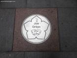 Joe Orton's plaque on street near Curve