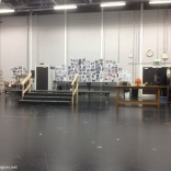 wall in Grease's rehearsal room